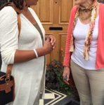 Elaine chats to Juliet Sargeant