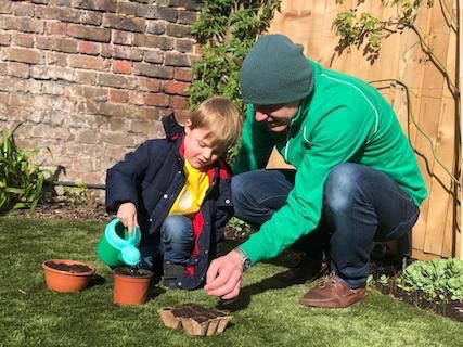 Sowing Hardy Annuals with children