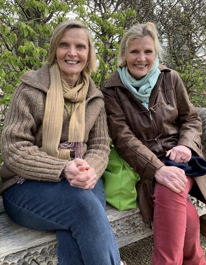 Arundel Castle Gardens Laura and Elaine