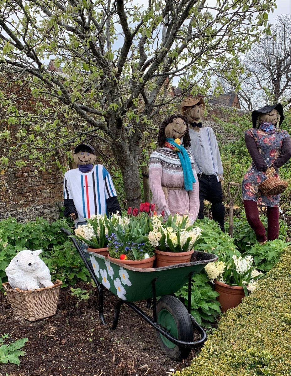 Arundel Castle Gardens scarecrows